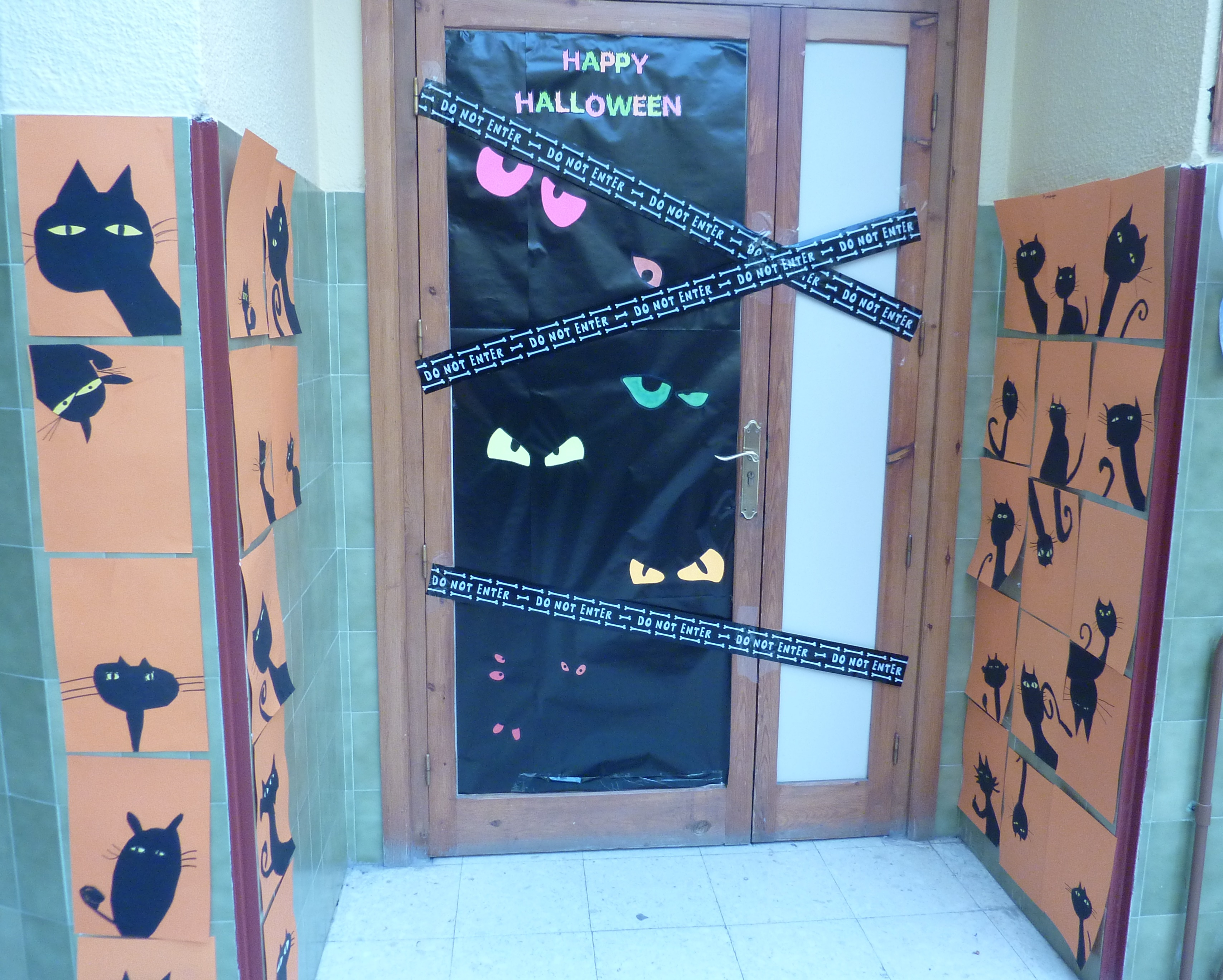 Decoración Puertas Halloween 17 Ceip Gregorio Marañón Toledo